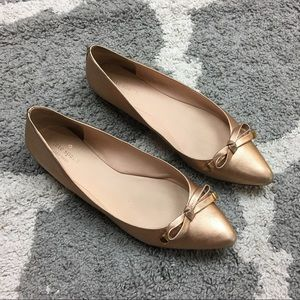 KATE SPADE | Rose Gold Pointed Toe Ballet Flats